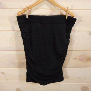 Lane Bryant Sz 16 Ruched Pencil Skirt Solid Black
